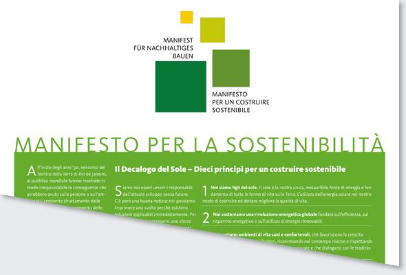 Manifesto per la sostenibilita'
